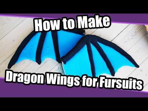 //Tutorial #34// Dragon Wings for Fursuits + PDF Pattern ...