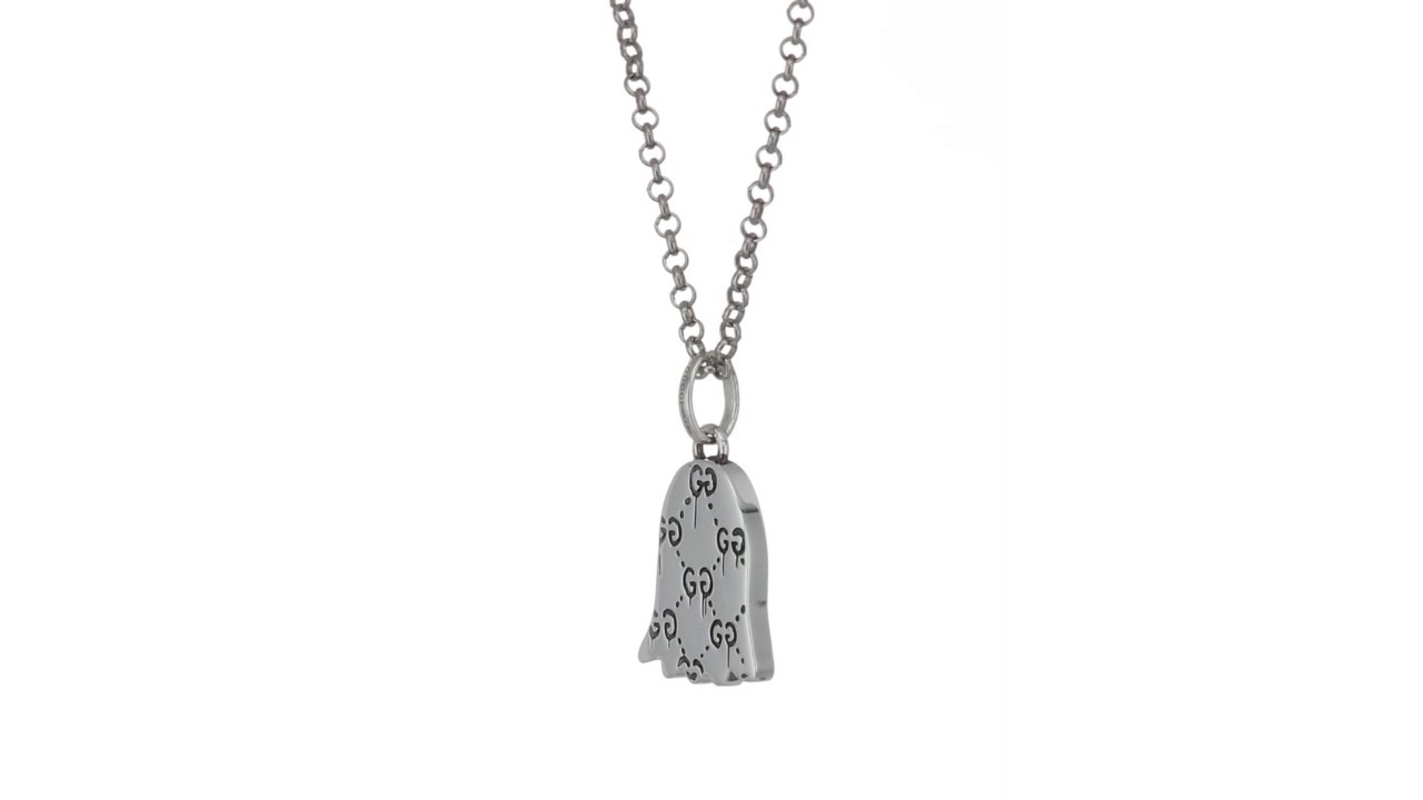 33877923201 Gucci 50cm Ghost Necklace with Small Charm SKU 8965699 - YouTube