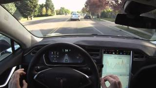 Tesla Model S P85D Autopilot Demonstration