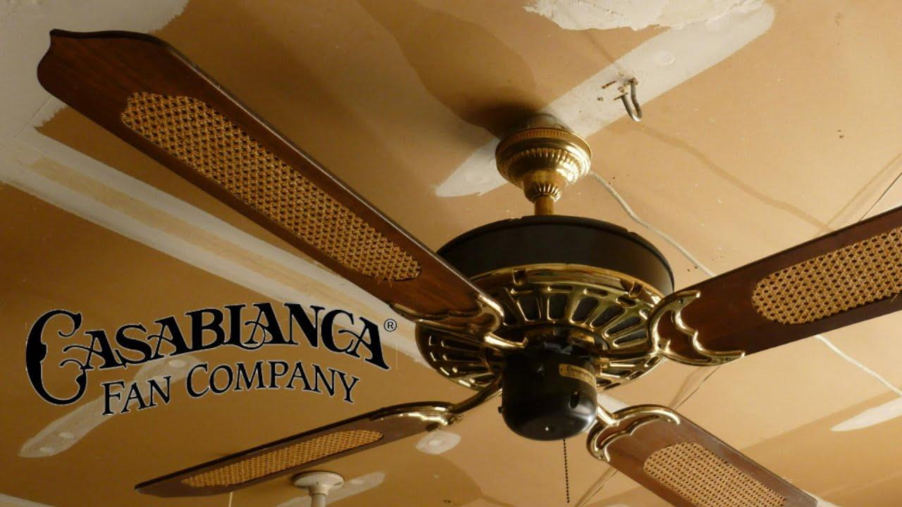 Casablanca Zephyr Ceiling Fan - YouTube