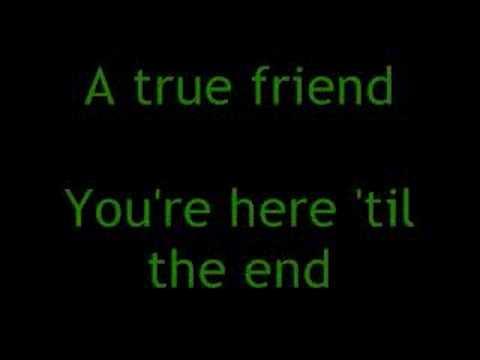 Miley Cyrus - True Friend lyrics