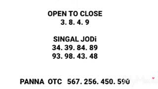 09/05/2019 kalyan blast game 100%%shure open to close
