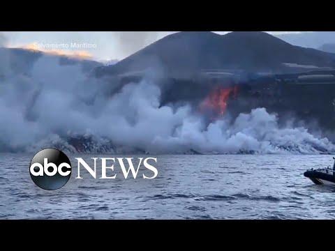 Lava from La Palma reaches Atlantic Ocean | WNT
