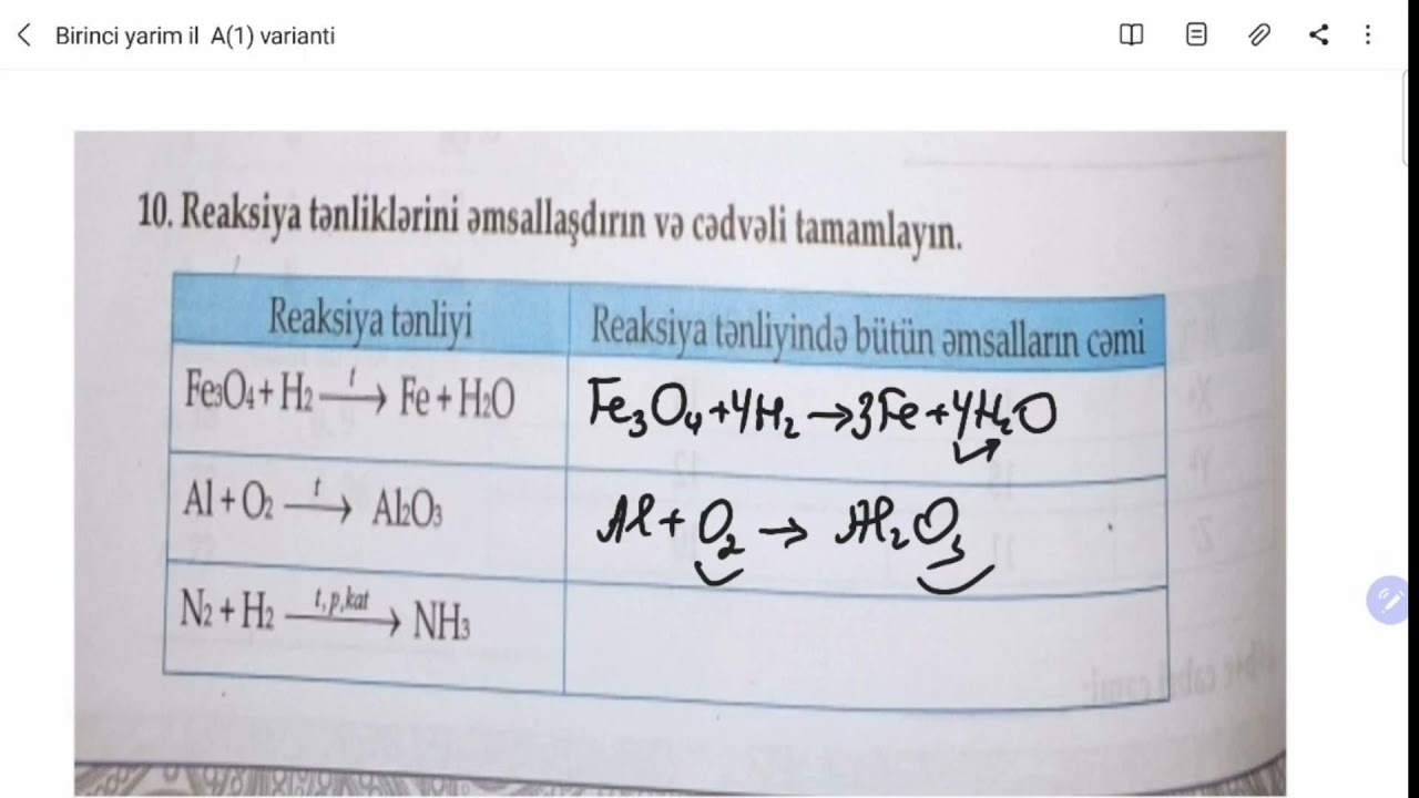 Kimya DİM 7ci sinf İlk anlayislar E varianti Online hazırlıq üçün əlaqə 0706989981