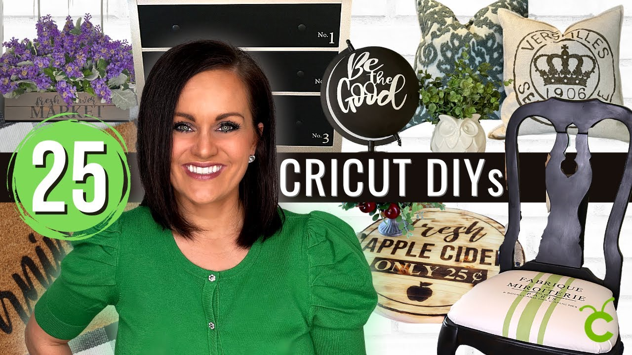 ⭐️25 MIND BLOWING DIY Projects You Can Make with a CRICUT!