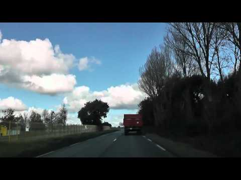 Driving On The D8 Between Runan & Pommerit-Jaudy, Brittany, France 28th October 2011