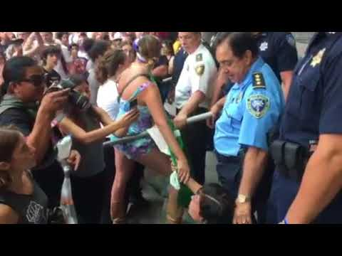Immigration protesters clash with police at Jeff Sessions speech in New Orleans