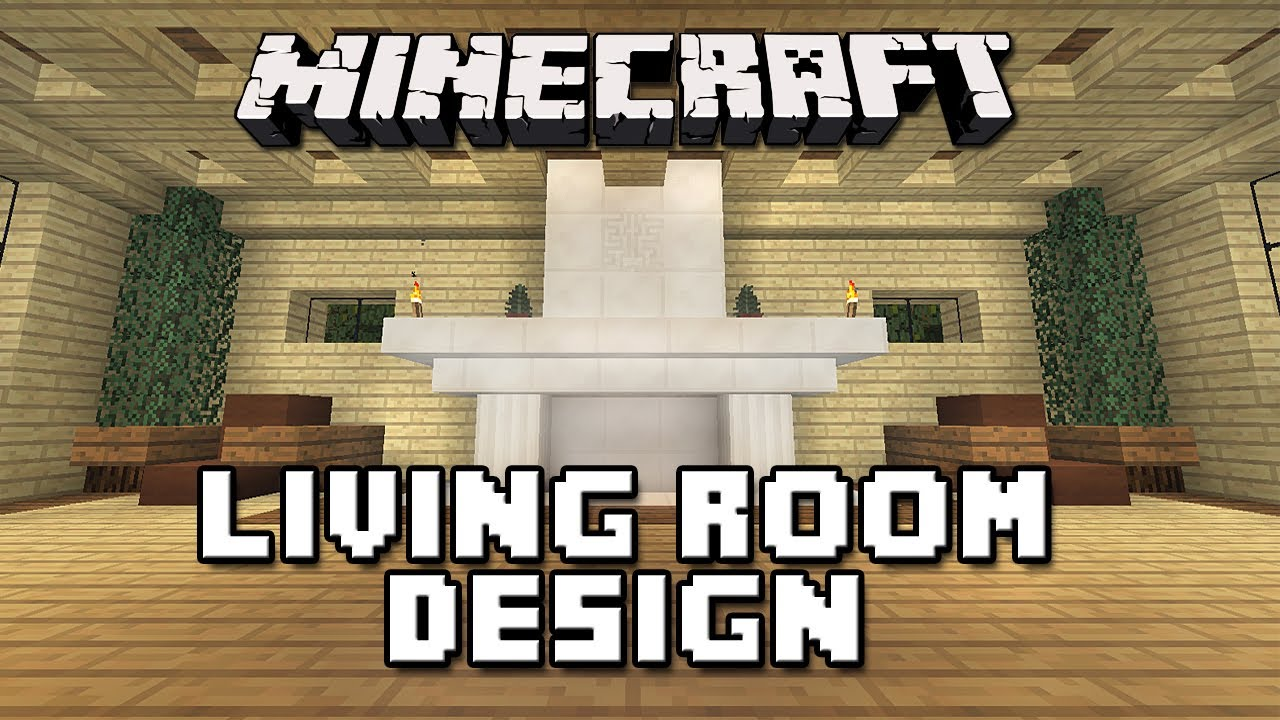 Minecraft tutorial how to build a house part 11 living for Room design builder