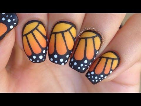 Nail Art Tutorial Monarch Erfly