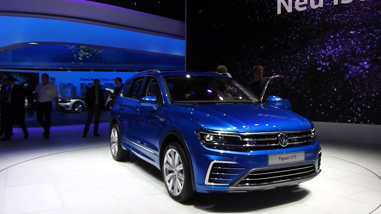 vw tiguan gte plug in hybrid iaa 2015 youtube. Black Bedroom Furniture Sets. Home Design Ideas