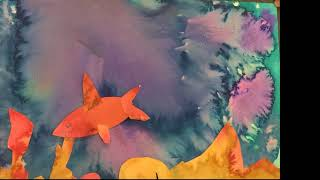 Claire's Creative Adventures Stop Motion Seascape Collage Animation June Art Camp 2019
