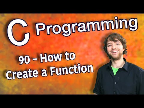 C Programming Tutorial 90 - How to Create a Function (Functions Part 1) thumbnail