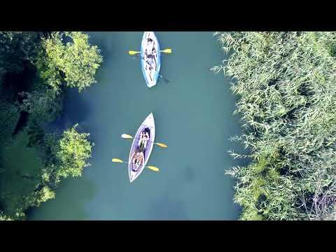 Canoa al fiume Tirino a Bussi sul Tirino #abruzzo #Bussi #pescara #abruzzo #travel #river #kajak #canoa #tirino #mountains #drone #dronephotography  - UkusTom