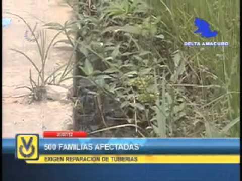 En Delta Amacuro 500 familias denuncian presencia de aguas negras