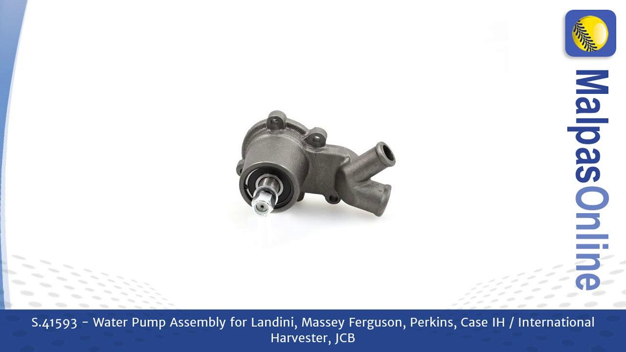 Water Pump Assembly for Landini, Massey Ferguson, Perkins, Case IH, JCB