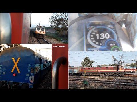 New Delhi to Agra Journey in : 22110 Nizamuddin LTT AC Superfast Express Compilation Part1