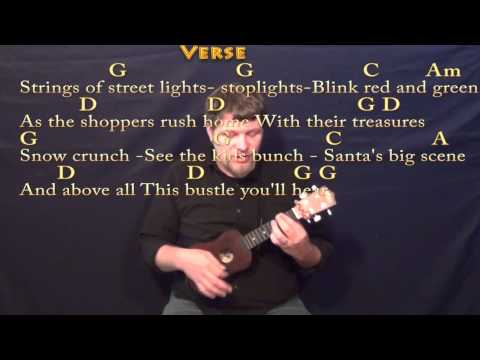 Silver Bells (Christmas) Ukulele Cover Lesson in G with Chords/Lyrics