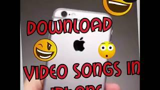 In iPhone video song Download in Photo Library | iphone video song Download |