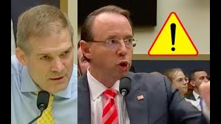 Jim Jordan And Rod Rosenstein Get Into Heated Argument Over Information Congress is Demanding!