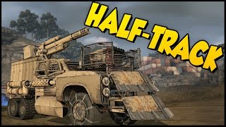 Crossout ➤ Half-Track Build! - 100 mm Cannon + Cricket Launcher [Crossout Gameplay](Crossout ➤ Half-Track Build! - 100 mm Cannon + Cricket Launcher [Crossout Gameplay] Crossout is a post-apocalyptic MMO-action game for the PC. The game ..., 2016-07-05T18:38:10.000Z)