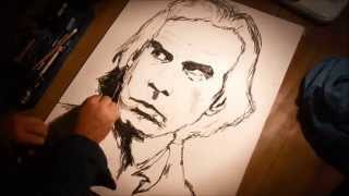 Nick Cave - speed drawing