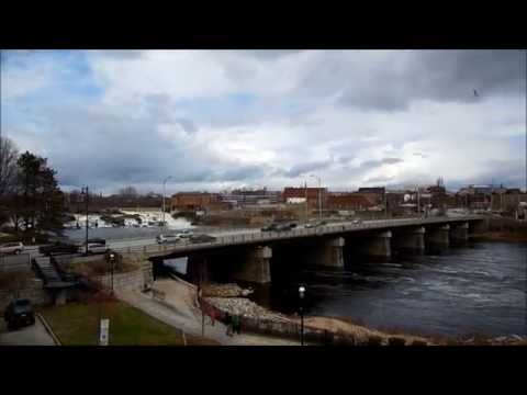 Lewiston - Auburn Maine panoramic video