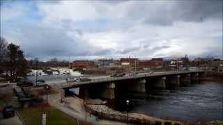 Lewiston - Auburn Maine panoramic video