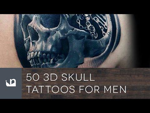 50 3D Skull Tattoos For Men