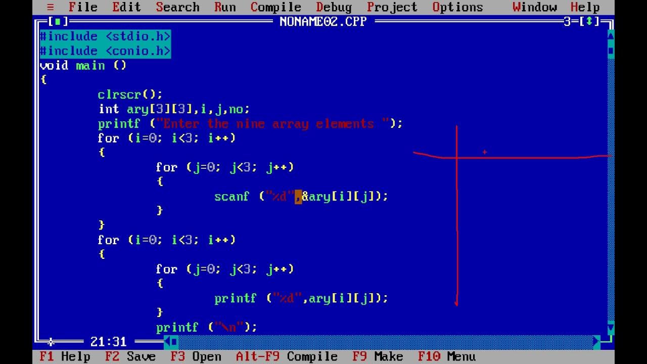 Two Dimensional Array In C Program C Program Tutorial For Array Youtube