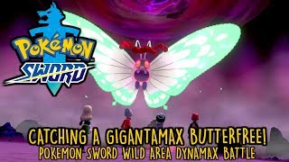 How to catch a Gigantamax Butterfree - Pokemon Sword Dynamax Battle Gameplay