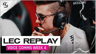 REPLAY: SK vs FNC & RGE Voice Comms | SK LEC SUMMER W4