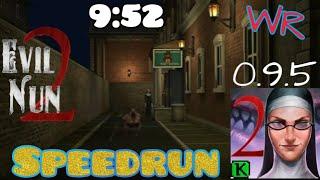 Evil nun 2 - V 0.9.5, World record (9:52), speedrun, full gameplay, ghost mode