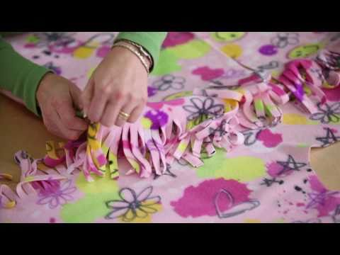 Learn with JOANN How to Make a No Sew Fleece Robe   YouTube