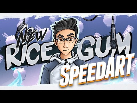 RiceGum's Youtube Banner (SpeedART)