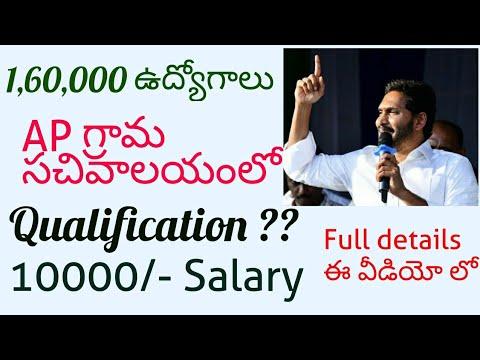 AP Grama sachivalayam 1 60L Jobs details   AP government Job notification  details  