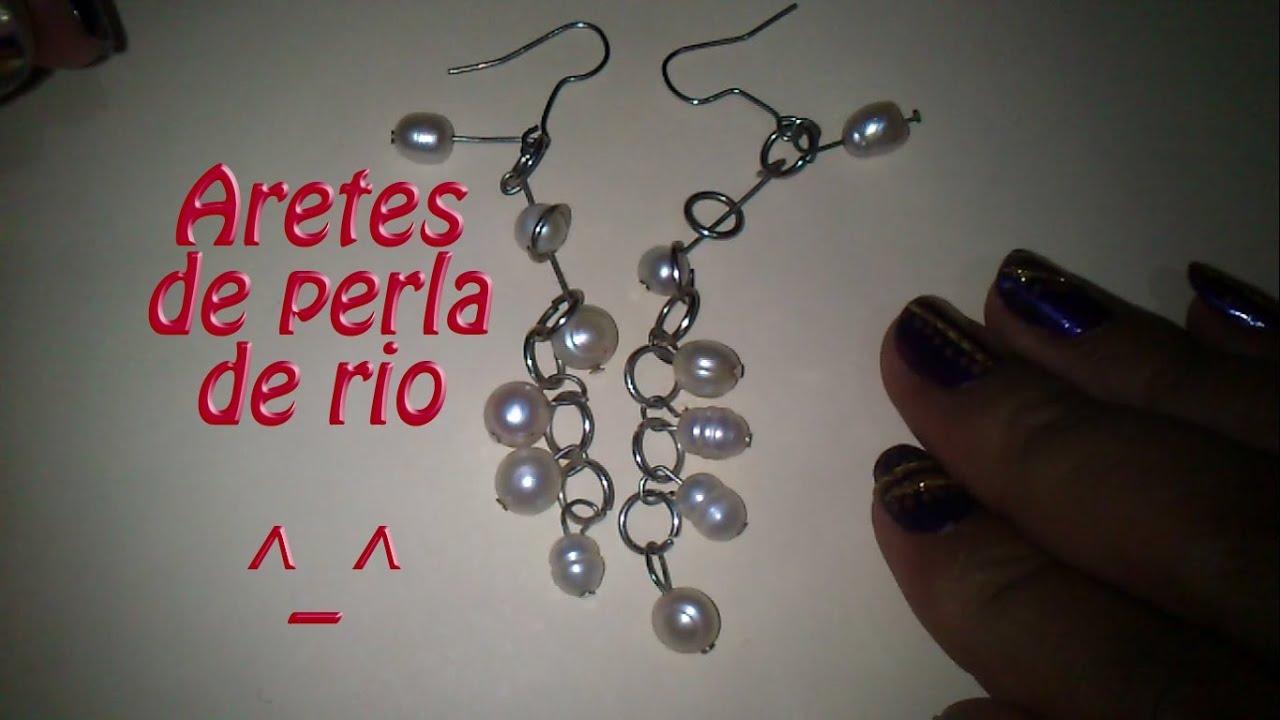 Hazlo tu mism@ DIY 8 Aretes de perla rio Modernos!!!