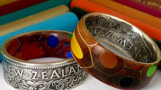 I Make a Ring with Colored Pencils and a Coin