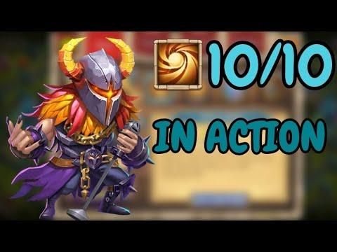 Aries L 10/10 Sacred Light In Action L Castle Clash