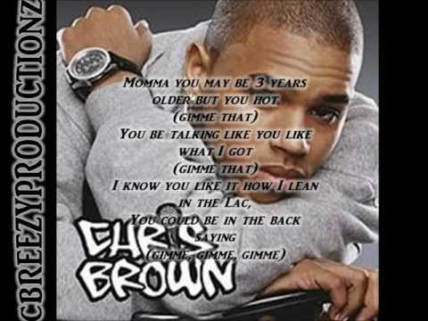 Chris Brown Gimme That Lyrics