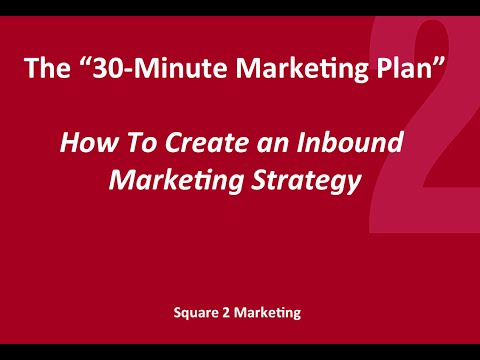 [WEBINAR]: The 30-Minute Marketing Plan