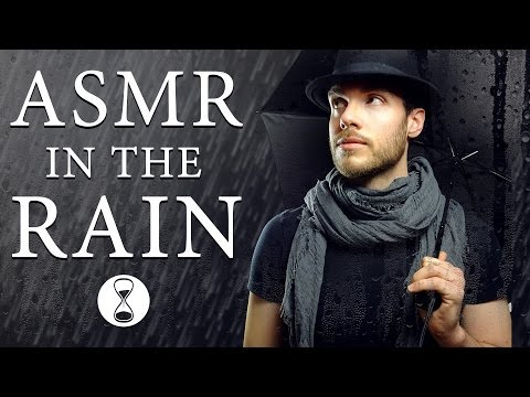 ASMR TINGLES IN THE RAIN ✰ Whispering & Inaudible Whispering ✰ Mic Blowing & Touching ✰ Rain Sounds
