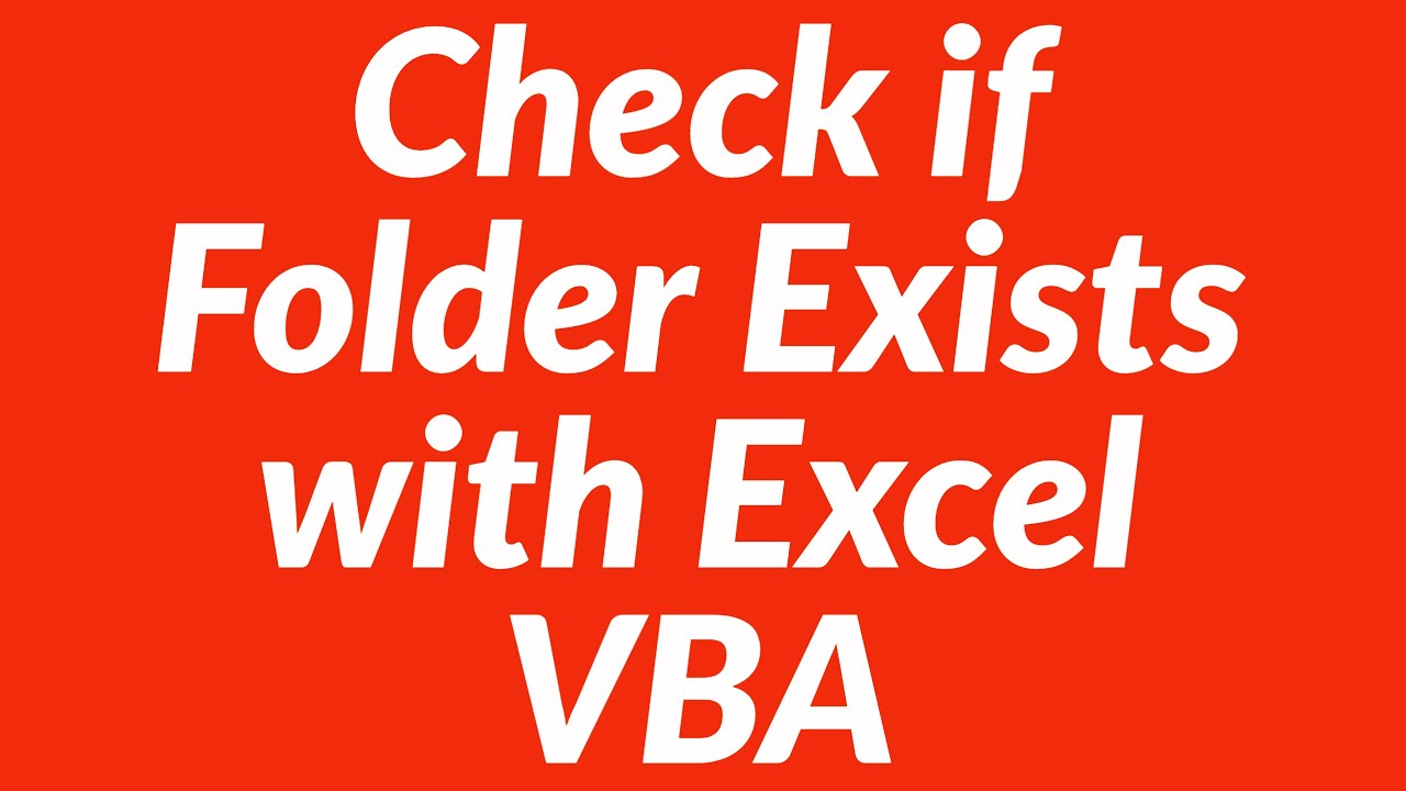 Check if folder exists with vba youtube check if folder exists with vba ibookread PDF