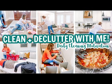 CLEAN + DECLUTTER + ORGANIZE WITH ME | EXTREME DAILY CLEANING MOTIVATION | Amy Darley