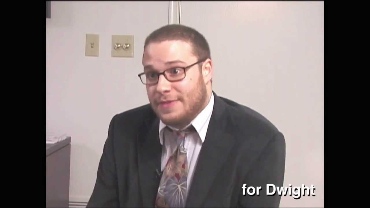 Seth Rogen auditioning for The Office role