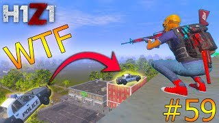YOU WON'T BELIEVE HOW THIS COP CAR GOT UP THERE...   H1Z1 KOTK - WTF Moments Ep. 59