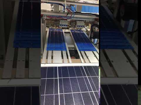 MS SOLAR solar panels renewable energy sun power -- Video of welding cells 1