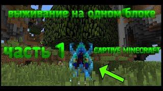 выживание с ачивками  на одном блоке в майнкрафте 1     Captive Minecraft