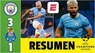 Manchester City 3-1 FC Porto GOL del Kun Agüero. Marcó Luis Díaz. Jugó Tecatito | Champions League
