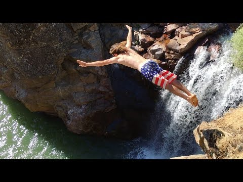 Cliff Jumping at Wildwood Falls in the Springtime