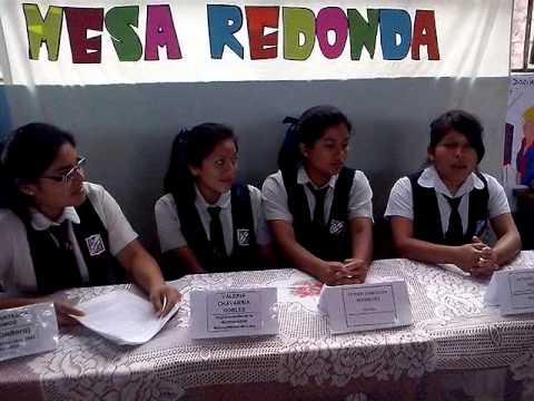 Mesa redonda estudiantes del 4to de secundaria javier - Que es mesa redonda ...